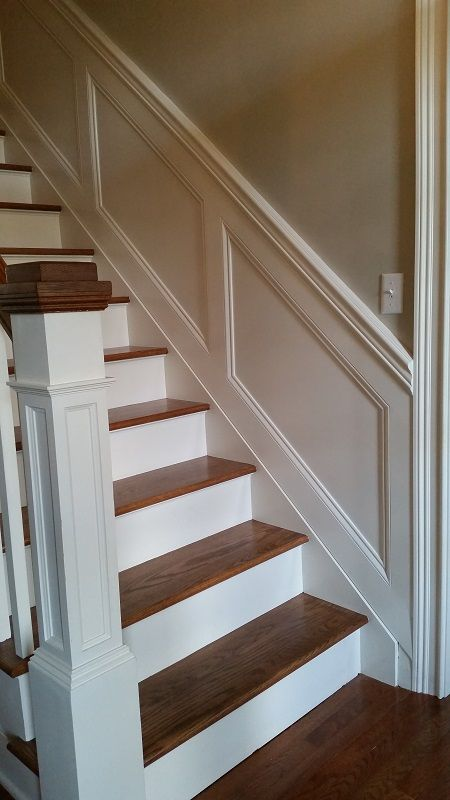 Hand Crafted Staircase Wainscoting By Ajc Woodworking
