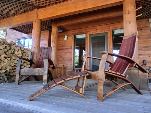 Custom Made Lillian - Wine/Whiskey Barrel Adirondack Chair