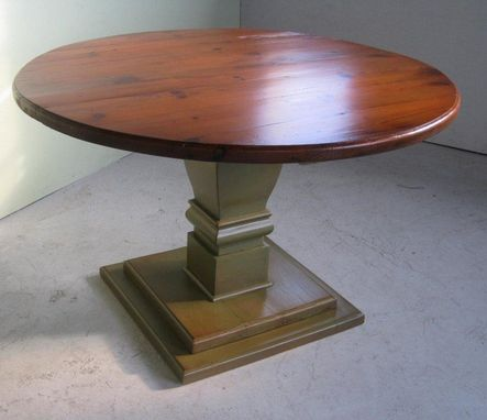 Custom Made 4ft Round Table With Tiered Pedesal Base