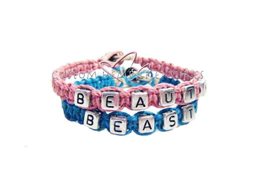 Custom Made Beauty Beast Couples Bracelets Personalized Bracelets