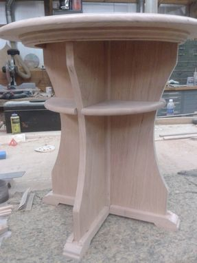 Custom Made Cherry Wood End Tables