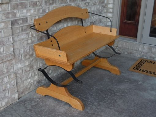 Custom Made Buckboard Bench