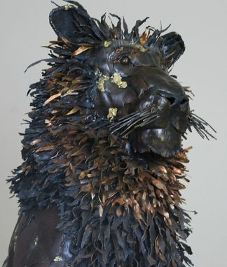 Custom Made Metal Lion Sculpture