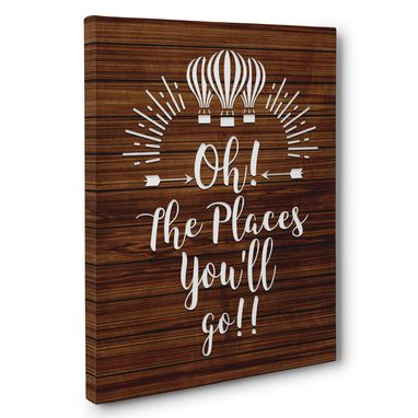 Custom Made Oh The Places You Will Go!! Canvas Wall Art