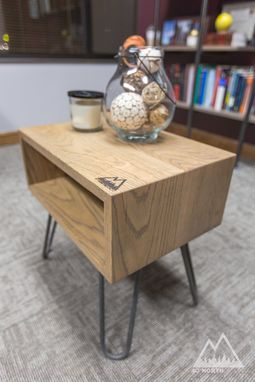 Custom Made Modern Side Table With Hairpin Legs