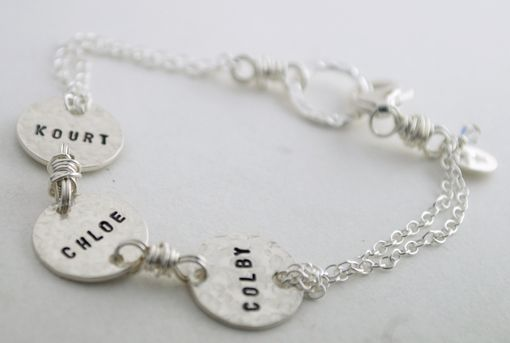 Custom Made Custom Name Bracelet Hand Stamped Sterling Silver With Custom Names