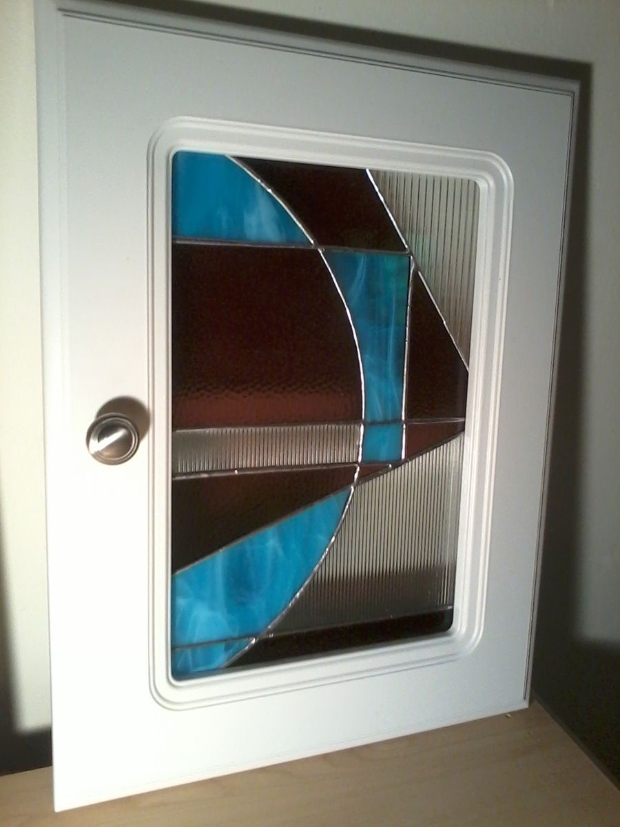 Custom Made Repurposed Stained Glass Cabinet Doors By Ibg Creative Design