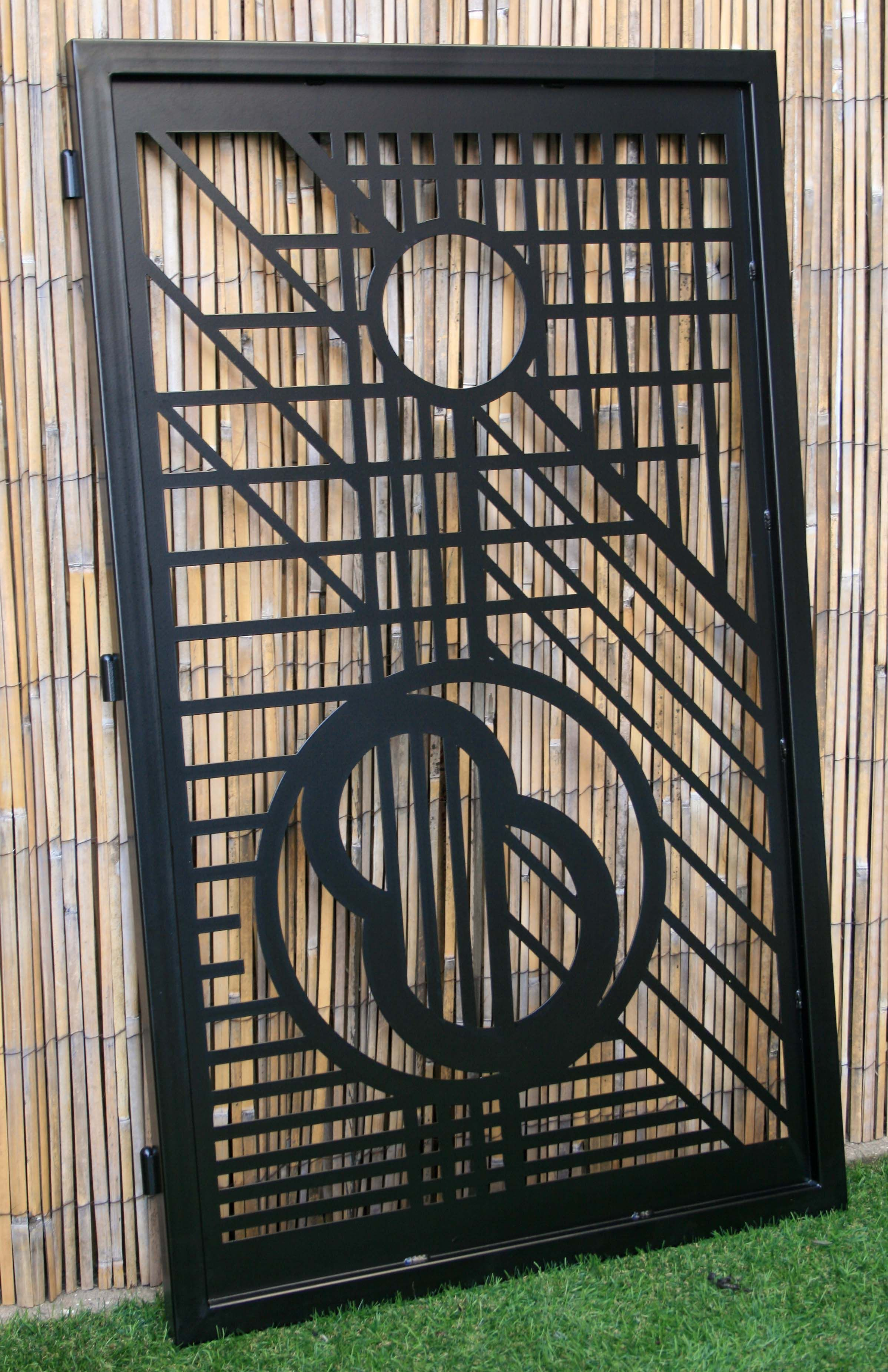 Custom Made Modern Artistic Metal Gate Mid Century Design Flw