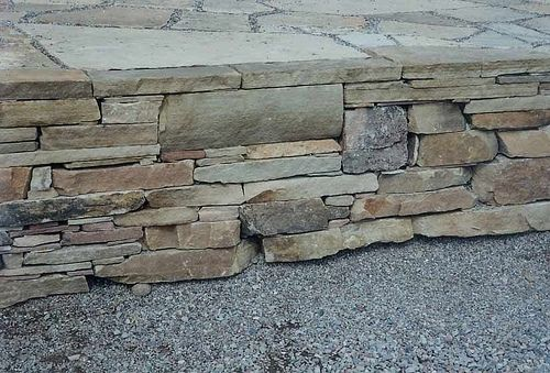 Custom Made Stone Retaining Wall / Patio