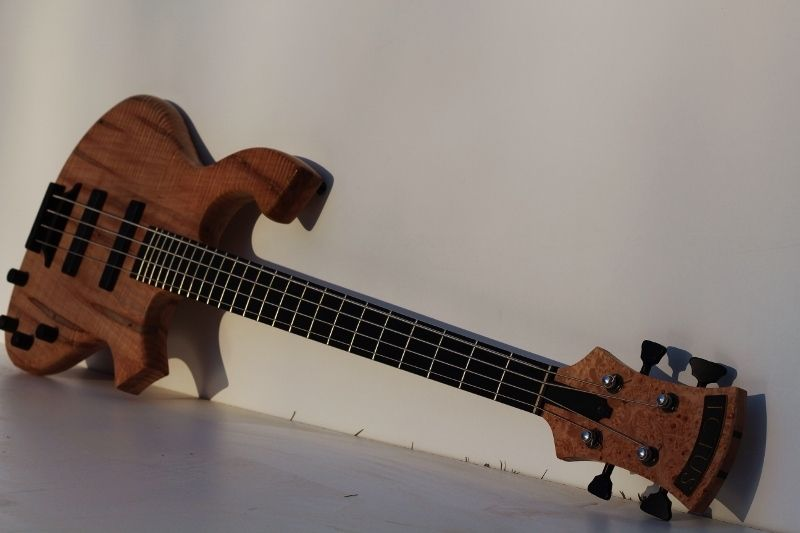custom made 4 string electric bass guitar curly ambrosia maple by ictus designs. Black Bedroom Furniture Sets. Home Design Ideas