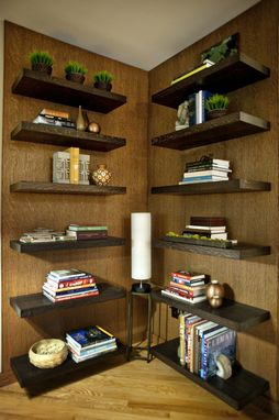 Custom Made Floating Shelf Wall
