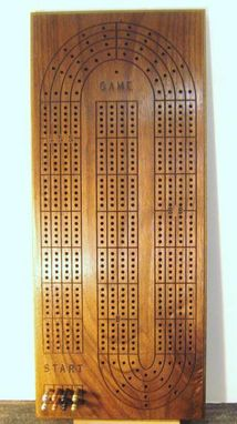 Custom Made Custom 4 Person Large Walnut Cribbage Board