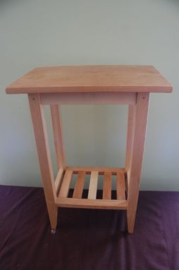 Custom Made Shaker Style End Table With Shelf