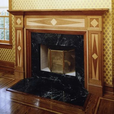 Custom Made Diamond Pattern Mantel In Greenwich, Connecticut