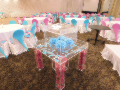 Custom Made Lucite / Acrylic Cake Table Deluxe - Handcrafted, Custom Sizing Welcome - Rent Me!