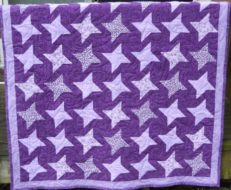 Custom Made Friendship Star Throw Quilt