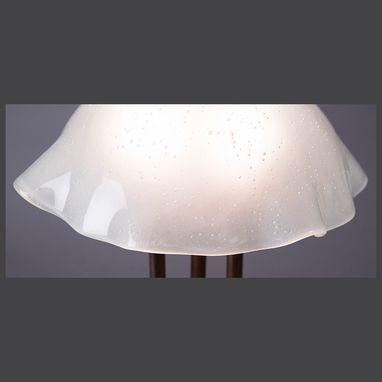 Custom Made Industrial White Mushroom Lamp