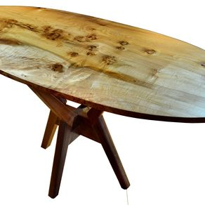 Mid Century Modern Dining Table Big Leaf Maple Highly Figured