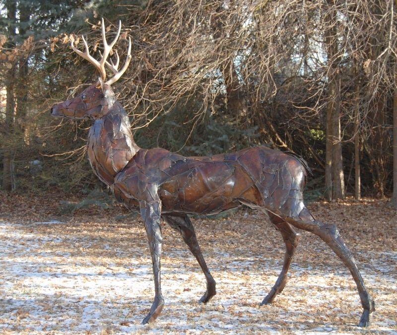Custom Made Life Size Metal Deer Buck By Jacob Novinger