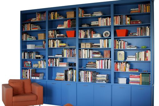 Custom Made Contemporary Built-In Bookcase