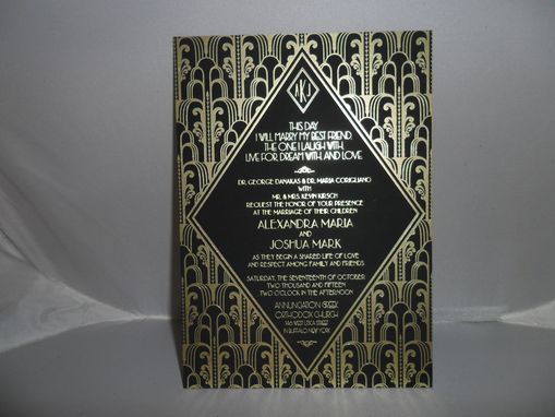 Custom Made Art Deco Invitation