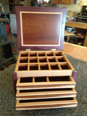 Custom Made Exoticwood 3 Drawer Jewelry Chest