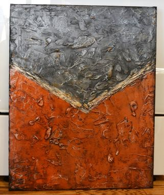 "Custom Made 24x30 Original Modern Textured Contemporary Abstract Painting By Alisha ""Hidden Beneath The Cracks"""