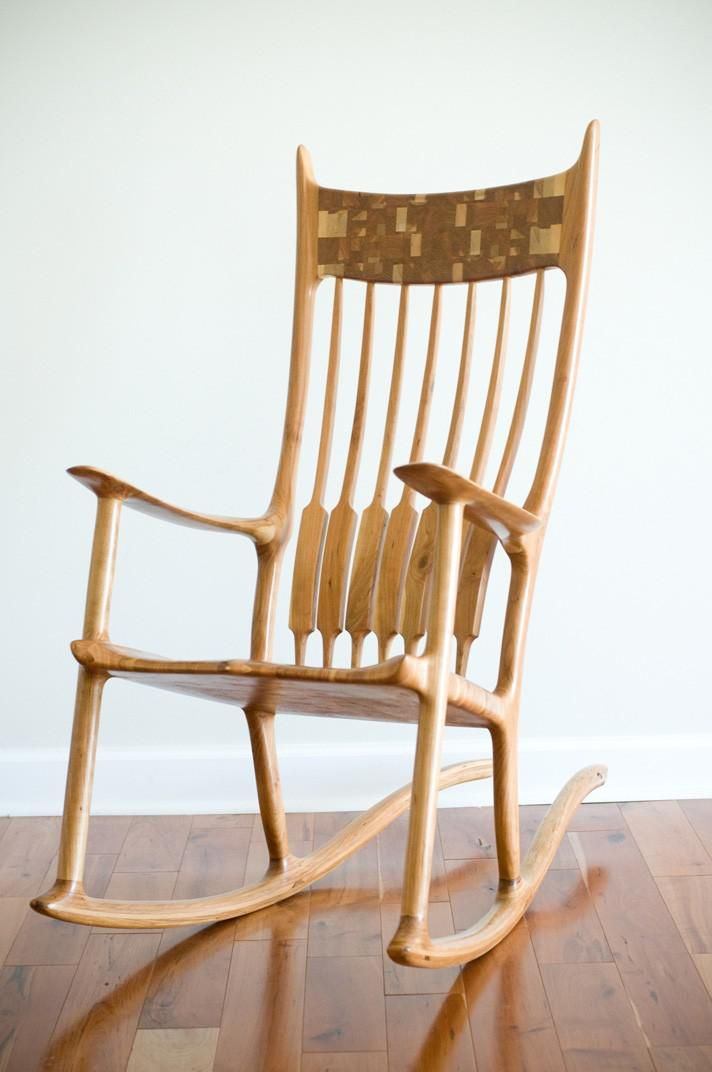 Custom Made Sam Maloof Inspired Rocking Chair