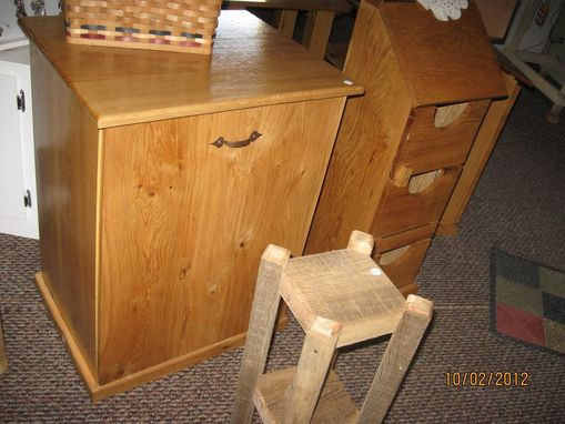 Custom Made Oak Laundry Box