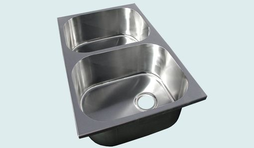 Custom Made Stainless Sink With Wide Corners