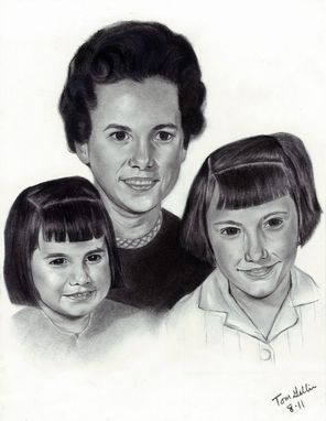 Custom Made Portrait Drawing (3 Subjects)