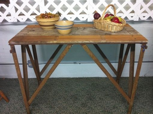 Custom Made Repurposed Industrial Steel Blacksmith's Table