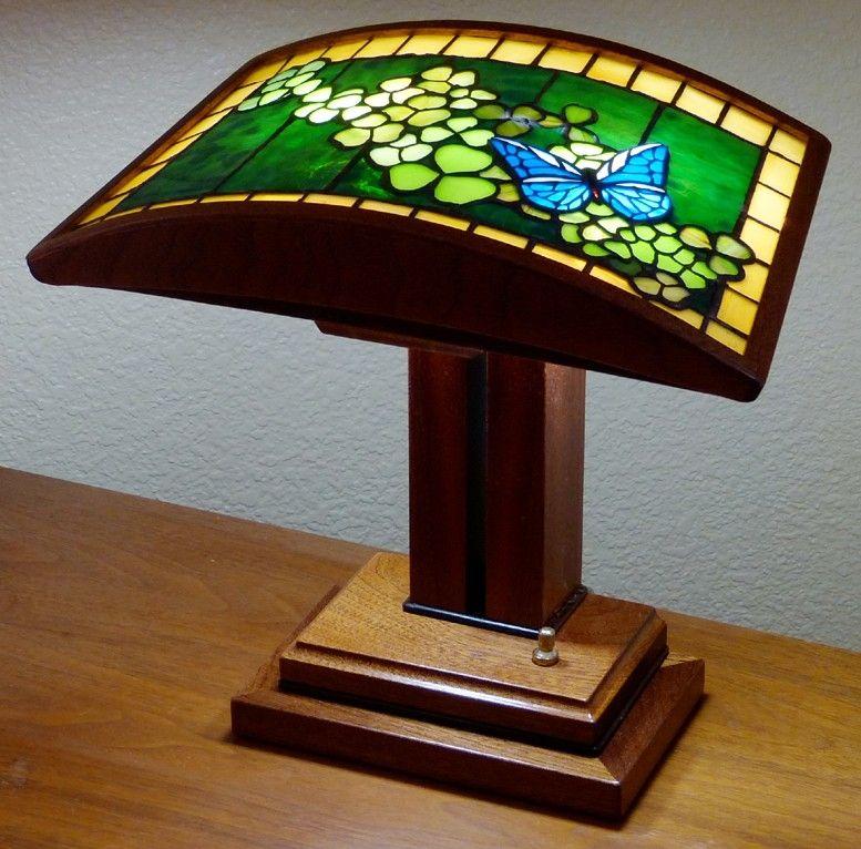 Custom Made Erfly Clover An Art Glass Desk Lamp