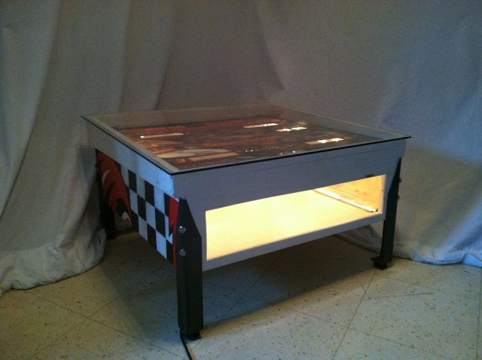 Hand Crafted Pinball Coffee Tables by Modern Rustic