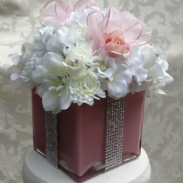 Buy a Hand Crafted Silk Floral Centerpiece For Baby Shower, Bridal ...