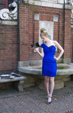 Custom Made Electric Blue Cocktail Dress