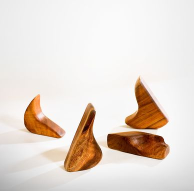 Custom Made Carved Hawaiian Koa Nature Forms Sculpture