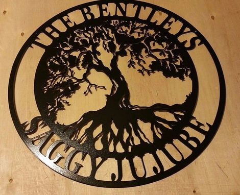 Custom Made Tree Of Life 2 Metal Sign  Last Name Established Est. Wedding Anniversary Great Gift