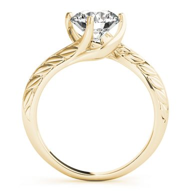 Custom Made Classic Round 14k Yellow Gold Diamond Wedding And Engagement Ring