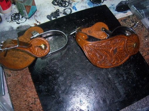 Custom Made Traditional Western Spur Leathers-(Spurs Not Included)