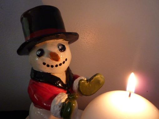 Custom Made Frosty Candle Holder