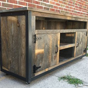 Rustic Reclaimed Wood Entertainment Center By Jeremy Paradis