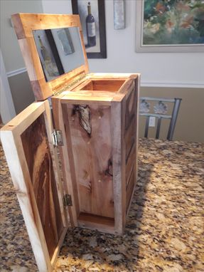 Custom Made Rustic Four Drawer Jewelry Box With Spalted Cherry And Maple Trim