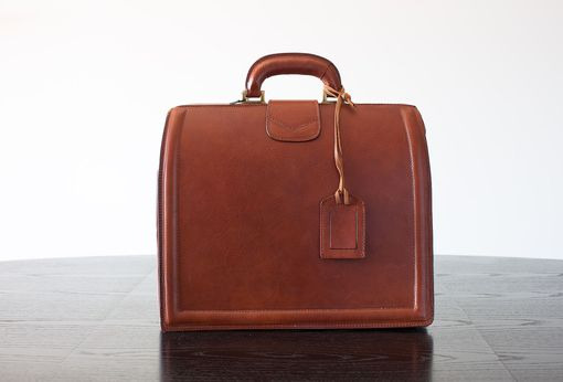 Custom Made Churchill Leather Briefcase, Italian Restyling