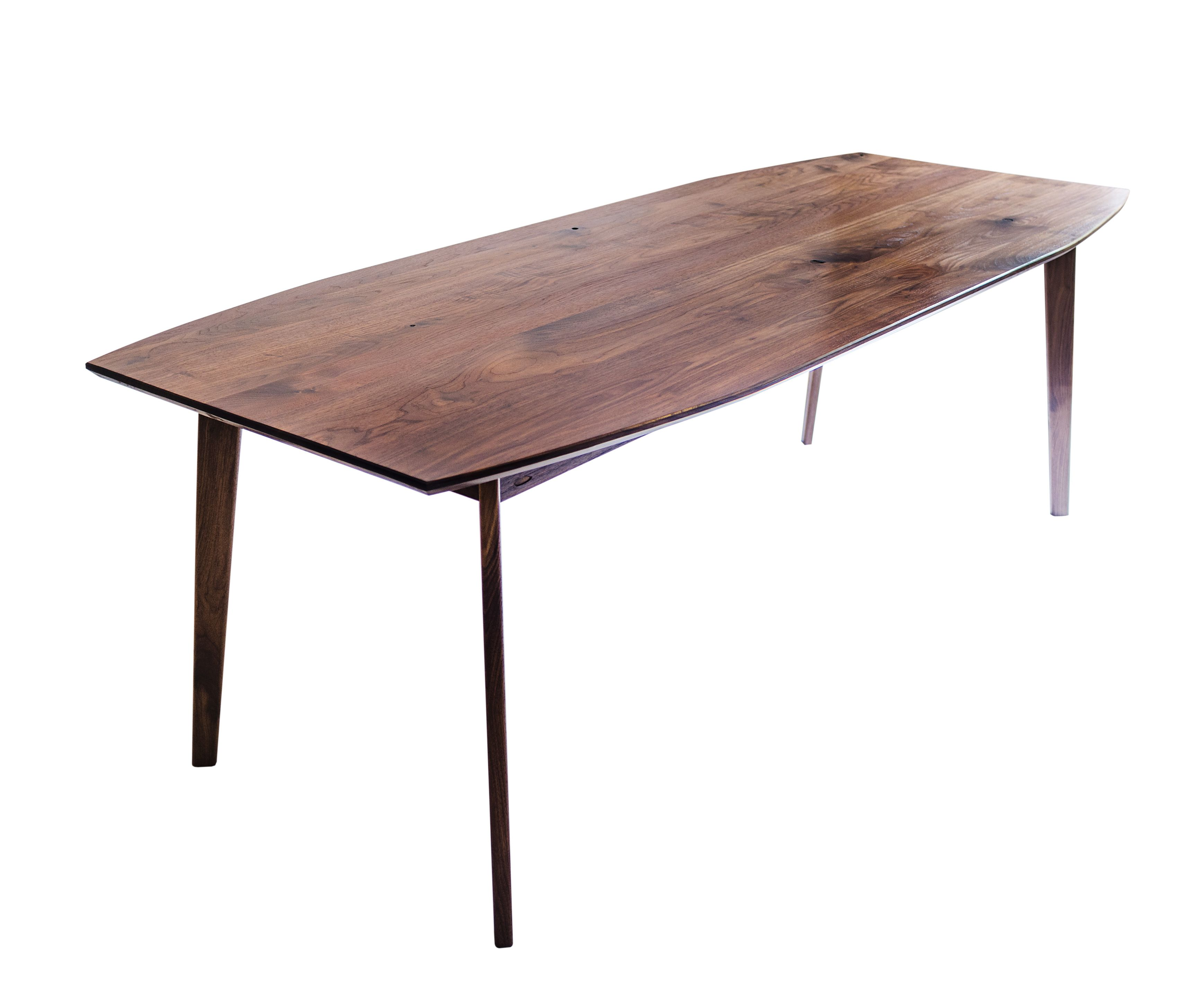 Buy a Custom The Santa Monica Solid Black Walnut Dining Table