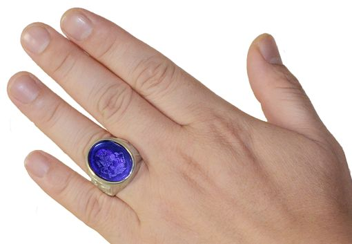 Custom Made Amethyst And Sterling Silver St George Ring