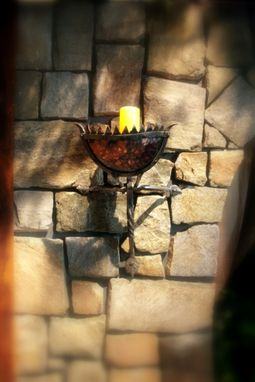 Custom Made Custom Hand Forged Wrought Iron Wall Sconces