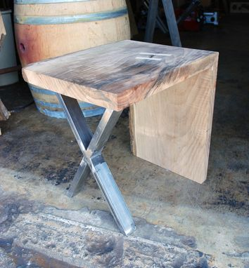 Handmade Asymmetric Waterfall Slab End Table By Jonathan