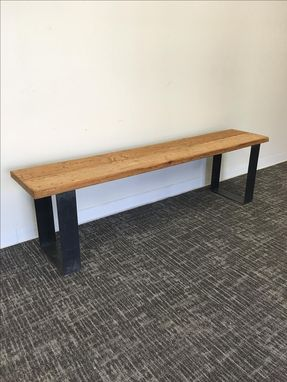 Custom Made #31 Remarkable Reclaimed Wood Bench With Hot Rolled Steel Legs