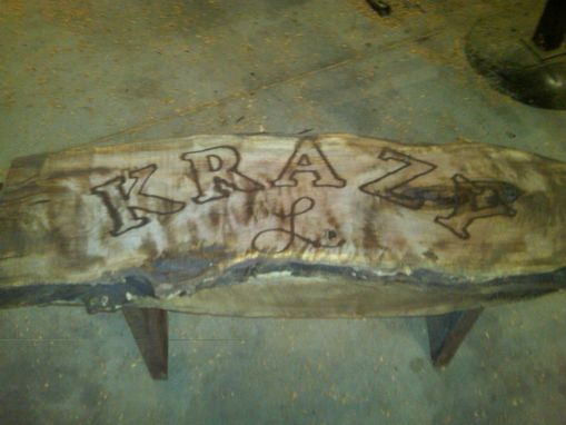 Custom Made Live Edge Bench
